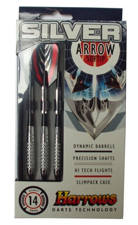 HARROWS SILVER ARROW SOFT - šipky 14g - 3 ks