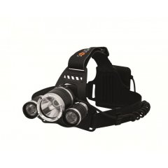 LED čelovka Solight WH23 SUPER POWER, 900lm, 3x Cree LED, 4x AA