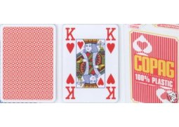 Poker karty Copag Jumbo 4 rohy Red