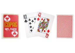 Poker karty Copag Jumbo 2 rohy Red