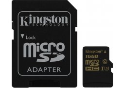 Paměťová karta Kingston microSDHC UHS-I U3 16GB, 90R/45W